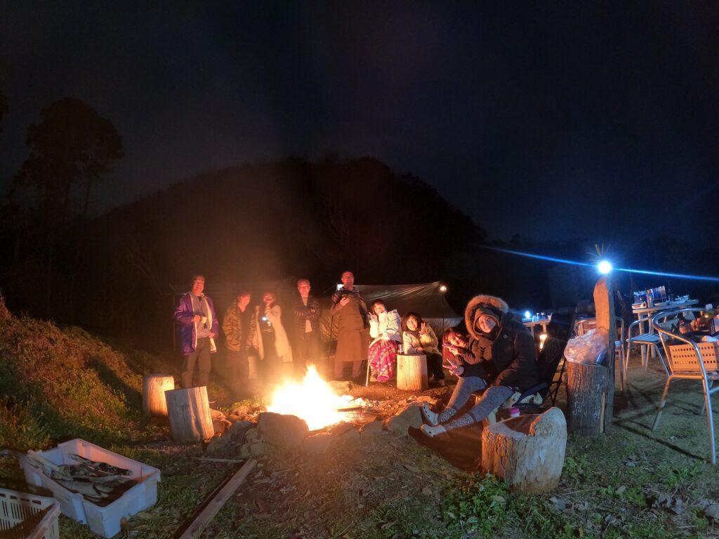 天草でのキャンプ風景